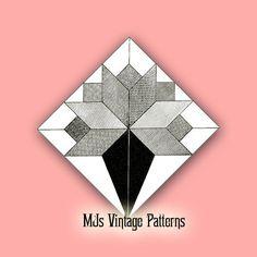 Vtg 30s Depression Era Quilt Pattern ~ Flower Old-Fashioned Nosegay
