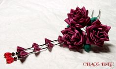 Japanese hair accessory by.Kanzashi -Rose-