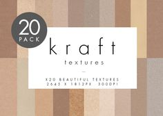 Kraft Card Textures - 20 Pack by The Fabled Graphics on @creativemarket