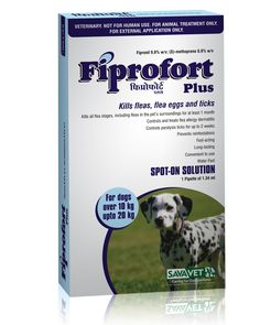 Fiprofort Plus Spot On Solution For Medium Dogs , Controls and treats flea allergy dermatitis. Controls paralysis ticks for up to 2 weeks. Prevents reinfestations , fast acting and long lasting.  Dont let ever let your dog suffer hurry up buy now :http://www.headsupfortails.com/dog-grooming/dog-tick-solutions/savavet-fiprofort-plus-spot-on-solution-for-medium-dogs.html #dogs #pets #antiticks #doglovers #killfleas #headsupfortails #huft