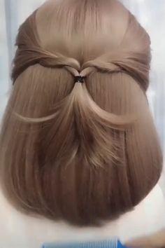 elegant hairstyles For Work - Elegant Hairstyle Updo Hairstyles Tutorials, Unique Braided Hairstyles, Easy Hairstyles For Medium Hair, Work Hairstyles, Creative Hairstyles, Headband Hairstyles, Hairstyle Ideas, Easy Elegant Hairstyles, Easy Diy Hairstyles