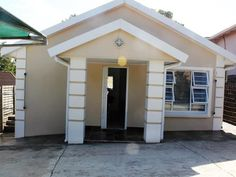 Front view 2 Bedroom House, East London, Kitchen Countertops, Shed, Outdoor Structures, Outdoor Decor, Blue, Ideas, Home Decor