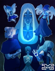 """what-does-it-lumping-mean: """"BLUE GEMS I hope you like it, please reblog :) """""""