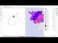 brother scan n cut tutorials creating the unicorn head card - YouTube
