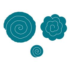 Flowers - Spiral - LC (roll to create a 3-D flower)
