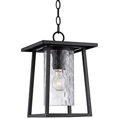 "$179 - Quoizel Lodge 13 1/2"" High Black Outdoor Hanging Light"