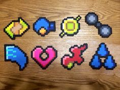 Pokemon Hoenn Badges Perler Creations by TheGuidingArrow on Etsy