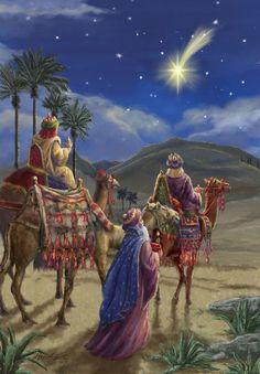 The Star of Bethlehem.The three wise men Christmas Nativity Scene, Christmas Scenes, Christmas Pictures, Merry Christmas, Nativity Scenes, The Nativity, Christmas Greetings, Nativity Scene Pictures, Christmas Bells