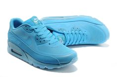 low priced 5e1ae f6875 Mens Nike Air Max 90 Blue Prem Tape Glow in the Dark Limited Shoes Sky Blue