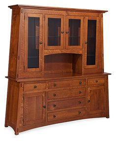 McCoy Deluxe Hutch - Leaning towards perfection. The McCoy collection features all the signature elements of this popular mission style, from distinctive sloped edges to black knobs, providing the quality craftsman touches that compliment any home.