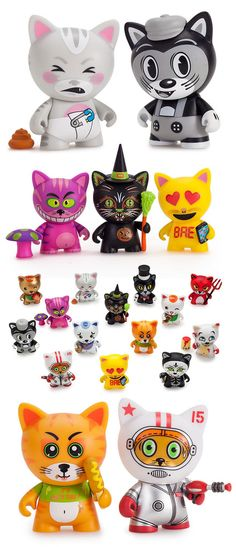 Just in time for Halloween... Kidrobot's 'Tricky Cats' mini series available on Friday!!!