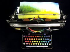 Tyree Callahan - Chromatic Typewriter, 2011 - A 1937 Underwood standard typewriter modified to produce colors instead of letters