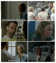 He didn't have too. Poor Carol and Sophia. Love them both. Shame when Sophia died. When ED died i was like haliluya.