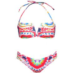 Mara Hoffman Red Pow Wow Bikini ($218) ❤ liked on Polyvore
