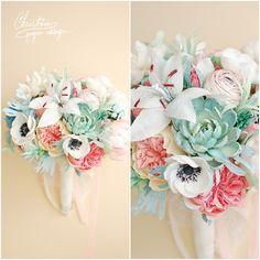 2.Christine paper design - paper flowers bridal bouquet