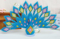 Etsy の 3-D Origami peacock by MASCOTQ