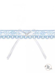 Giarrettiera Azzurra con perline. Materiale: pizzo e raso. Misura: unica. In #promozione #matrimonio #weddingday #ricevimento #wedding #sconti #giarrettiera #giarrettiere #sconto #nozze