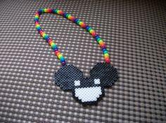 Deamau5 kandi Necklace by ButtonMakings on Etsy, $5.00