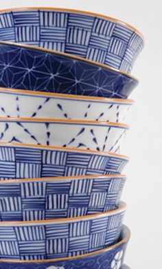 Fair Trade: Beautiful blue and white bowls made by Vietnamese artisans.