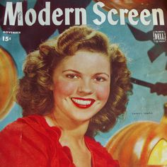 Shirley Temple - Modern Screen Magazine - November 1944 - Includes from arttiques on Ruby Lane.  Here is Shirley Temple on the November 1944 cover of Modern Screen Magazine. There is an article on her turning 16 - 'Sixteen's Okay' and numerous other articles on stars of the era including Judy Garland, Gene Kelly, June Allyson an Lon McCallister. This issue also includes nine color pages. There are a lot of fun articles and stories in this issue.