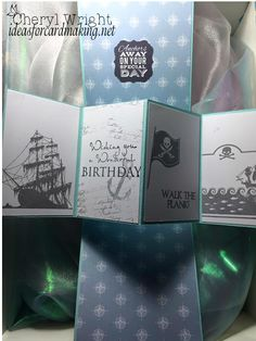 I recently showcased a card I was going to use for my hubby's birthday, which was just a few days ago. Until I saw a video on how to make a Twist and Pop card. (Which I'll post at the e…