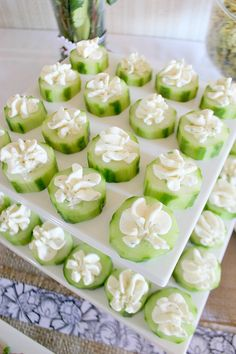 Adorable baby shower menu ideas for baby boy or baby girl themed parties! Your guests will love these appetizers and finger foods!