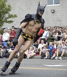 Roller Skating Batman #funny