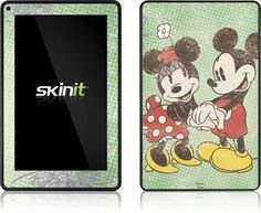 Skinit Mickey & Minnie Holding Hands Vinyl Skin for Amazon Kindle Fire by Skinit. $19.99. IMPORTANT: Skinit skins, stickers, decals are NOT A CASE. Our skins are VINYL SKINS that allow you to personalize and protect your device with form-fitting skins. Our adhesive backing can be applied and removed with no residue, no mess and no fuss. Skinit skins are engineered specific to each device to take into account buttons, indicator lights, speakers, unique curvature...