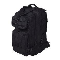 de7573eda3caf 2L Men Outdoor backpack Military Tactical Backpack Camping Hiking Hunting  Trekking Backpack (Black) Review