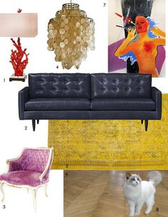 Elizabeth's Colorful Glamour Mix Dream Living Room