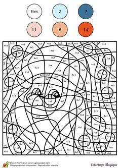 Coloriage magique du Père Noël avec des calculs d'addition.