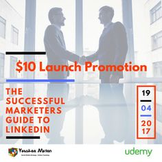 Join me in the $10 launch promotion of my new Udemy workshop - The Successful Marketers Guide to Linkedin and get the $55 course for $10 on an early bird one-off launch price. Link in Bio to Enroll  About the course: In this class you will: Increase brand awareness on Linkedin Influence perception Learn the 4-1-1 Method! Generate high-quality leads and Ultimately drive revenue with LinkedIn. Gain tips and practical strategies to tap into the power of Linkedin. We will cover organic and paid…