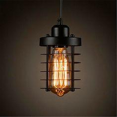 Riipus valot ,  Rustiikki Vintage Retro Maalaistyyliset Maalaus Ominaisuus for LED Minityyli suunnittelijat MetalliRuokailuhuone Kitchen – EUR € 24.37