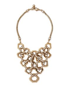 Narcissus Crystal Bib Necklace by Lulu Frost at Neiman Marcus.