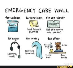 Emergency care wall (and iFunny)