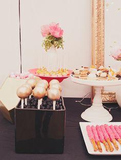 Metallic cake pops ➳ Pinterest: miabutler ♕