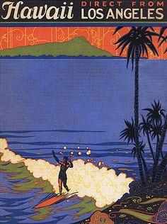 Hawaii poster, 1930s