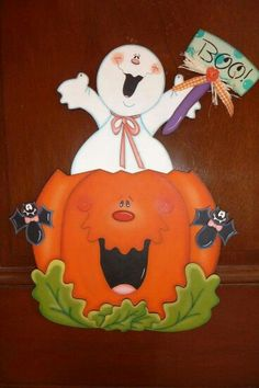 Calabaza Halloween Yard Art, Country Halloween, Halloween Wood Crafts, Halloween Painting, Halloween Clipart, Halloween Season, Halloween Cards, Holidays Halloween, Fall Crafts