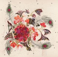 #embroidery #floral #Louise Gardner Embroidery artist. Very inspiring and amazing work!