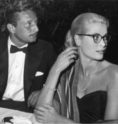 Grace Kelly I love that she is not afraid of wearing her glasses