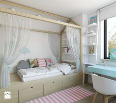 dom jednorodzinny w Legionowie - Średni pokój dziecka dla chłopca dla dziewczynki dla malucha, styl nowoczesny - zdjęcie od INSIDEarch