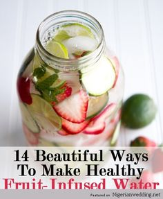 NW Bridal Beauty: 14 Healthy, Hydrating, and Homemade Infused Water For That Fresh Glow