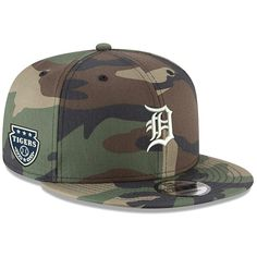 innovative design 6c138 362ff Men s Detroit Tigers New Era Camo Military Patch 9FIFTY Snapback Hat, Your  Price   31.99