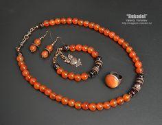 Jewelry Set Necklace Bracelet Earrings Ring . Natural от vorobev