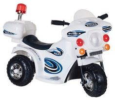 Lil' Rider SuperSport Three Wheeled Motorcycle Ride-on - White