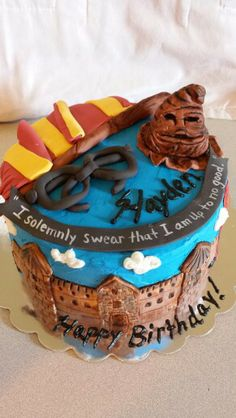 Harry potter birthday cake by Sweet Tooth Mother and Daughter Cakes Knoxville tn