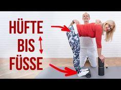 Mache 5 Übungen zur Beseitigung deiner Beschwerden unter der Gürtellinie mit der Faszien-Rollmassage + Engpass-Dehnungen + unserer Light-Osteopressur