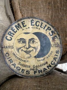 Vintage French tin sign