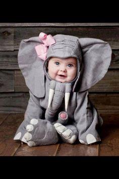 Cute baby elephant for Halloween