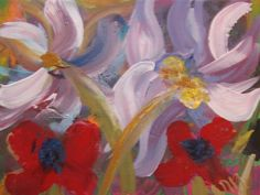 #Fun #funky #flower #painting by #Ann Lutz.